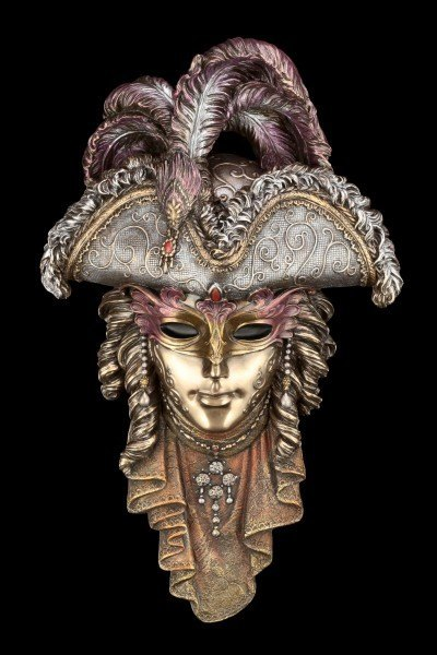 Venetian Mask - With Hat and Feathers