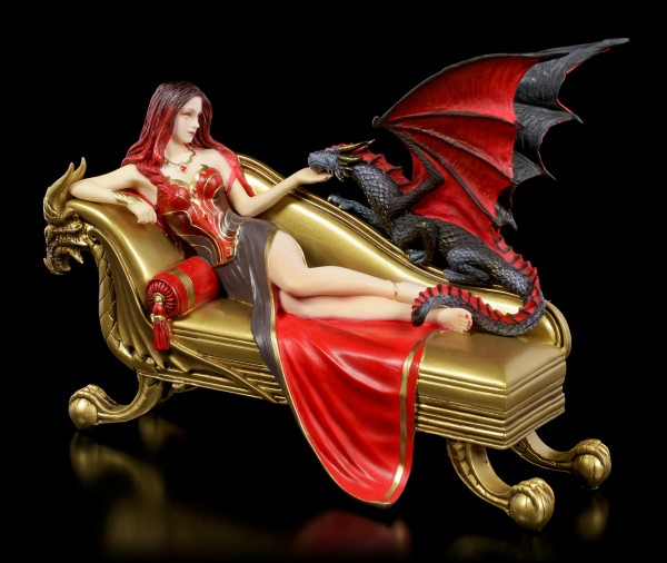 Dragon Figurine with Princess - Dragon Companion