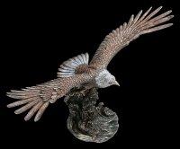 Large Eagle Figurine with Fish