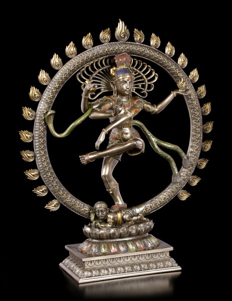 Large Shiva Figurine as Nataraja - Ring of Flames