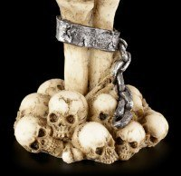 Tealight Holder - Skeletonhand with Skull