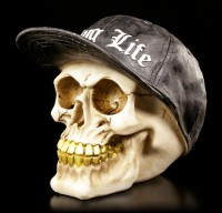 Gangster Skull with Gold Teeth - Thug Life