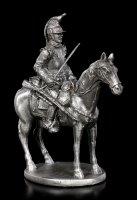 Zinn Soldaten Figur auf Pferd