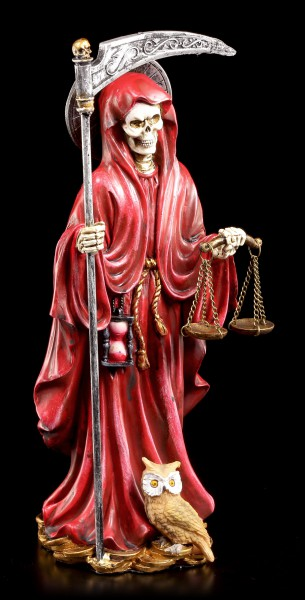 Santa Muerte Figur - rot