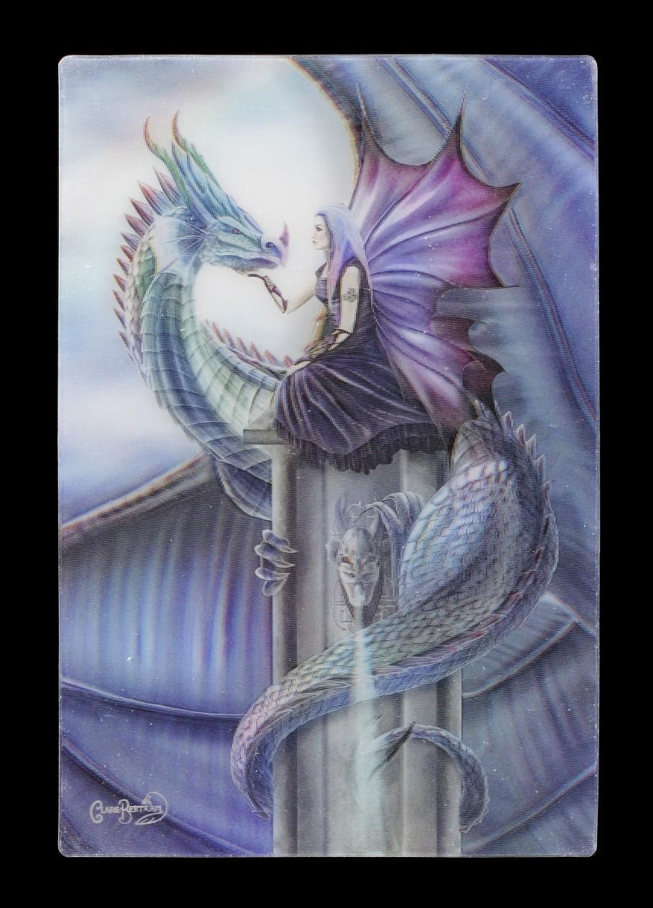 3D Postcard - Iridescence Dragon