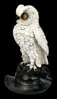 White Owl Figurine on Witches Hat - Soren