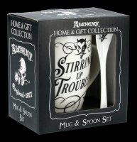 Tasse mit Löffel - Teufel Stirring Up Trouble