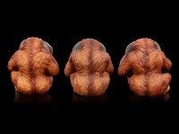 Three Wise Orangutan Figurines - No Evil