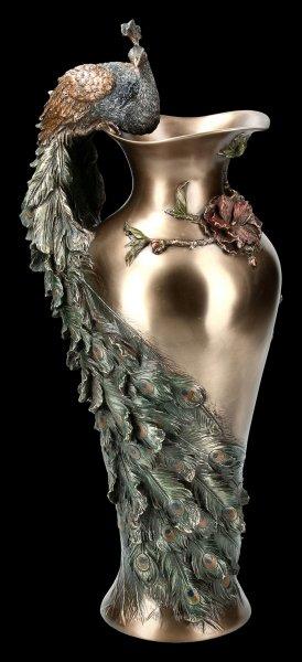 Jugendstil Blumen Vase - Pfau