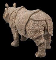 Gartenfigur - Laufendes Nashorn