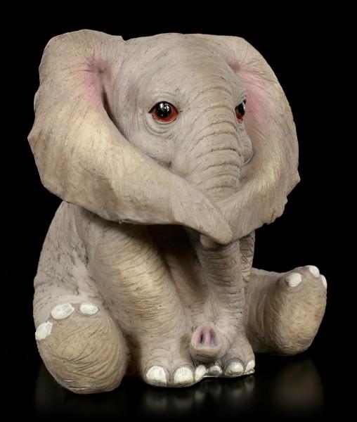 Drei Weise Baby Elefanten Figuren - Nichts Böses