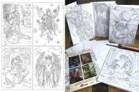 Grußkarten 4er Set zum Ausmalen - Winter Fantasy