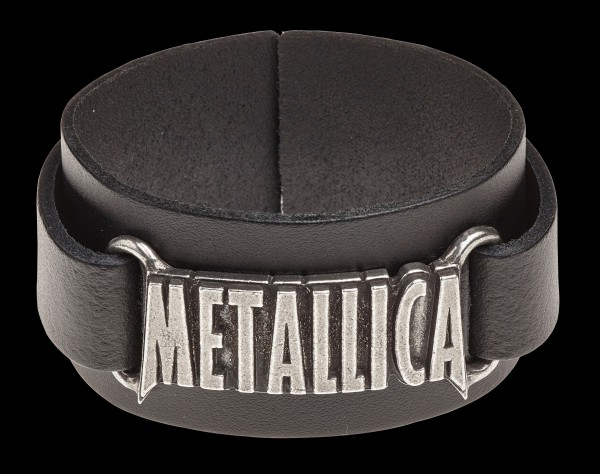 Metallica Leather Wriststrap - Alchemy Rocks