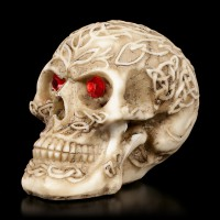 Celtic Skull with red Eyes small