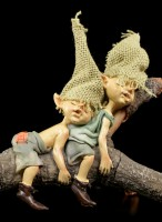 Pixie Goblin Figurines sleeping - Nothing's going on