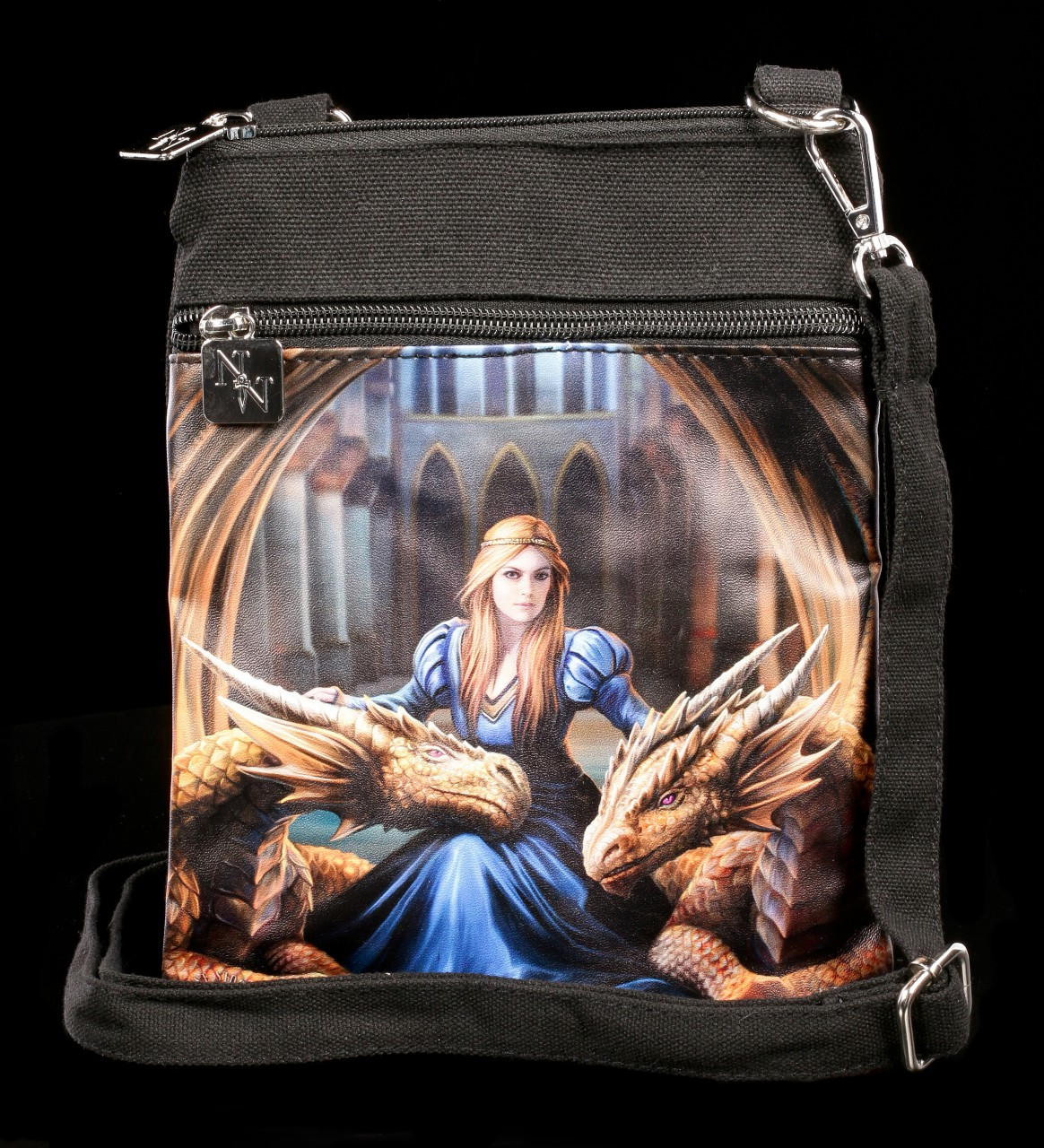 Small Shoulder Bag with Dragons - Fierce Loyalty