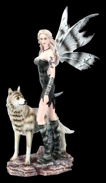 Fairy Figurine - Elleth with Wolf