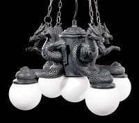 Ceiling Lamp - Four Dragons with Five Lights