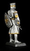 Small Knight Figure with Shield and Mace