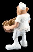 Funny Jobs Figurine - Baker with Bread Basket