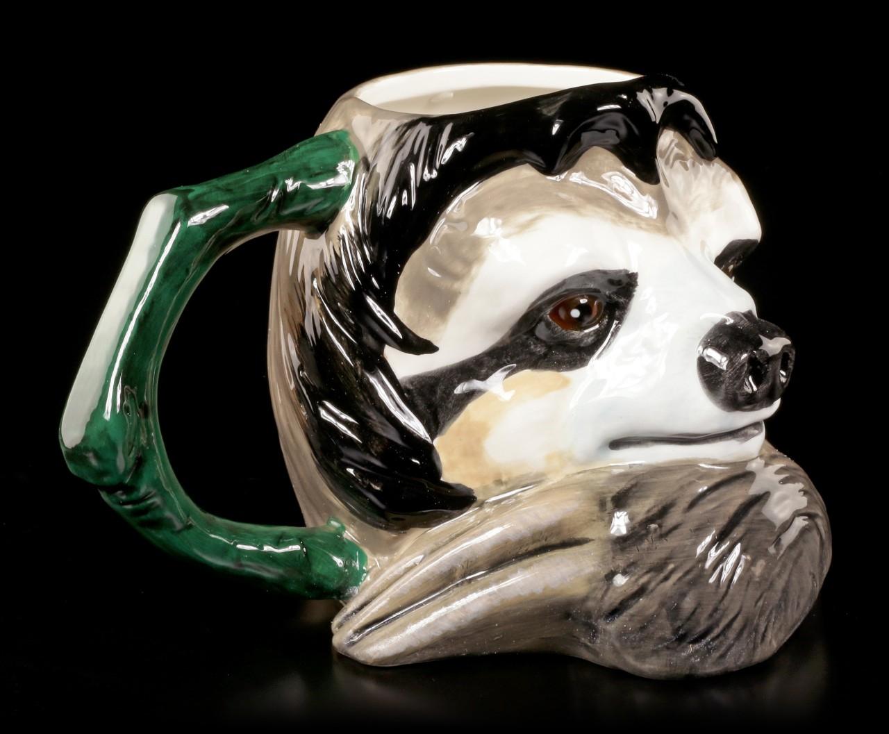 Keramik Tasse - Faultier