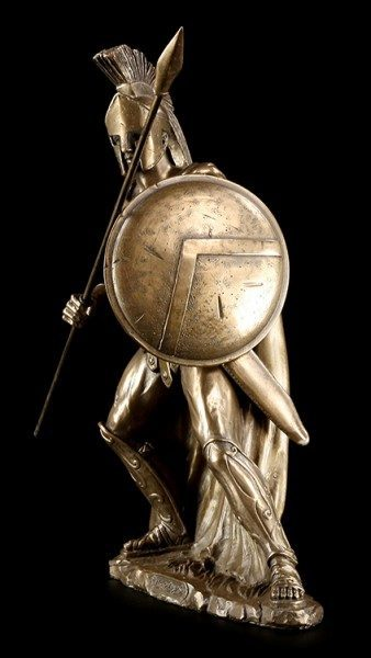 Leonidas I. Figur mit Speer und Schild