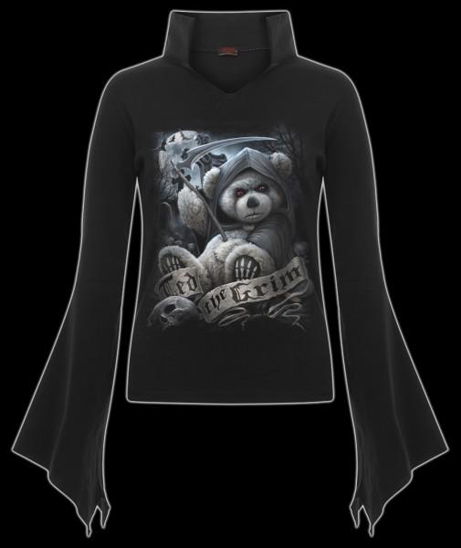 Langarmshirt Damen Gothic- Ted The Grim-Teddy