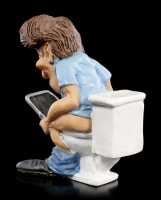 Funny Jobs Figur - Bürokaufmann auf Klo