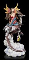 Elfen Figur mit Drache LED - Fierce Companion