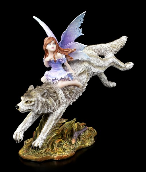 Fairy Figurine - Wolf Rider