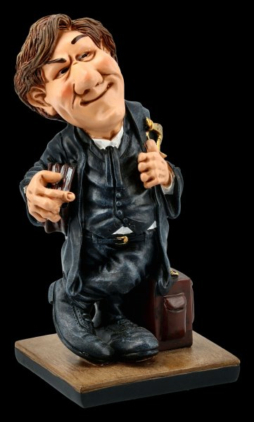 Funny Job Figurine - Lawyer with Books
