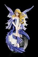 Fairy Figurine on Glass Ball - Blue Dream