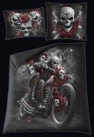 Skull N' Roses- Double Duvet Cover with Pillow Case