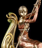 Teelichthalter - Frau in Gondel