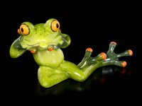 Funny Frog Figurine - Pulling a Face