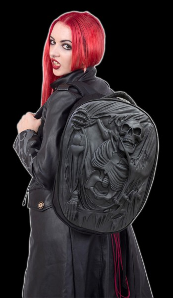 Skull Back Pack 3D Latex - Death Re-Ripped