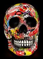 Colourfull Skull with Brand Advertising - Pop Art