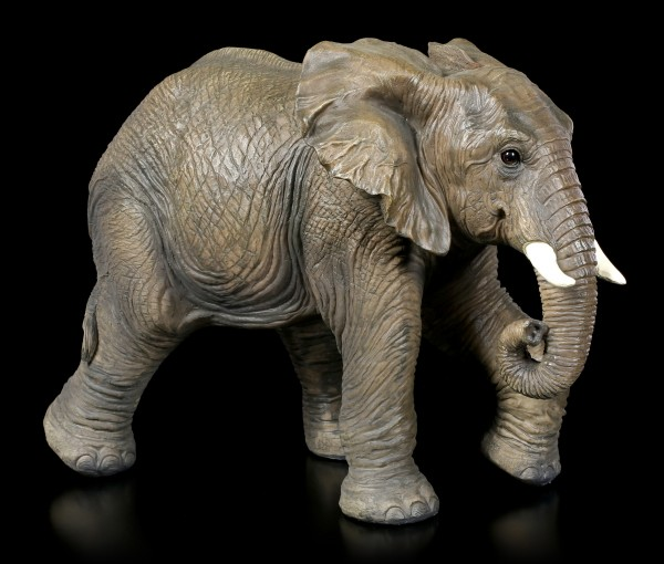 Gartenfigur - Laufender Elefanten Bulle