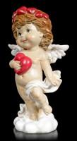 Cherub Figurine - Little Angel with red Heart