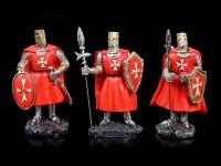 Red Crusader Figurines - Set of 6