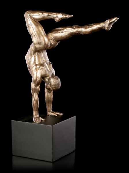 Male Nude Figurine - Handstand on Monolith