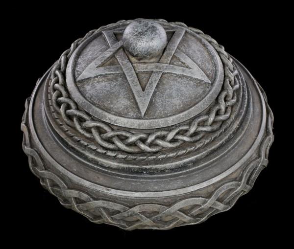 Celtic Box - Round with Pentagram