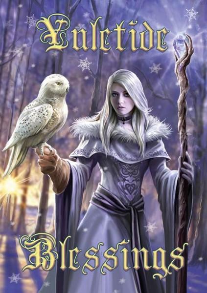 Fantasy Weihnachtskarte - Winter Owl