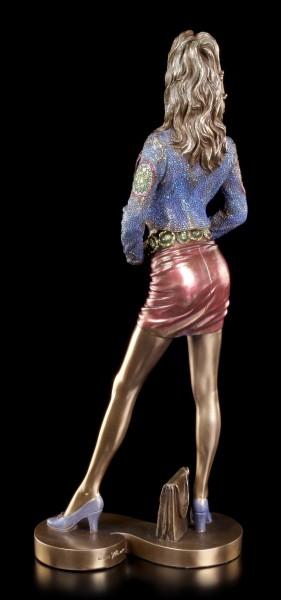 Sexy Frauen Figur im Disco Outfit