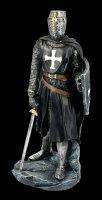 Schwarze Tempelritter Figur mit Schild und Schwert