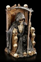Reaper Figurine on Throne with LED - Soul Keeper - colored