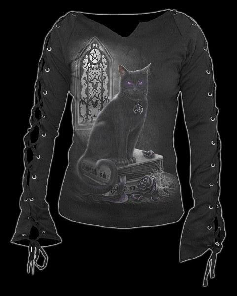 Langarmshirt - Witch Cat