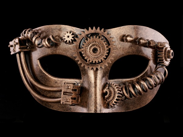 Steampunk Mask - Pipes and Gears