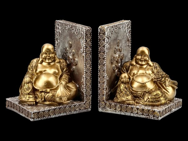 Bookends - Happy Buddha