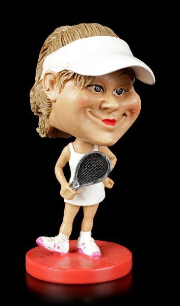 Funny Sports Figur - Wackelkopf Tennisspielerin